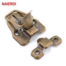NAIERDI 4PCS Vintage Lock Antique Bronze Hasp Jewelry Chest Box Gift Box Suitcase Case Buckles Hasp Latch Catch Clasp 58*40mm