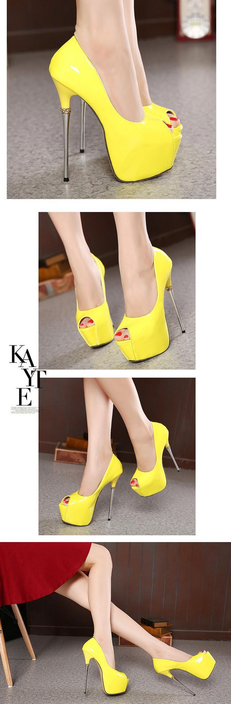 white wedding shoes 16cm extreme high heels party shoes Pumps ... 0cc185f6cc4d