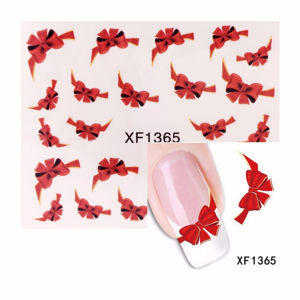 FWC Water Transfer Nail Art Sticker Watermark Decals DIY Decoration For Beauty Nail Tools 1365 fwc watermark nail stickers christmas nail art water transfer sticker decals manicure wraps decor 2148