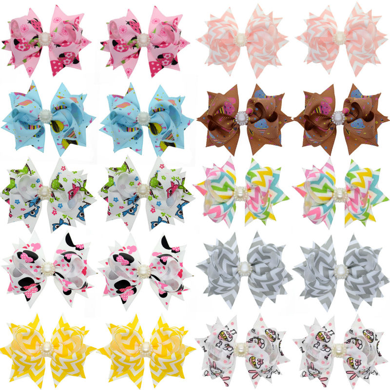 3 Inch Trendy Ribbon Hair Clips For Womes