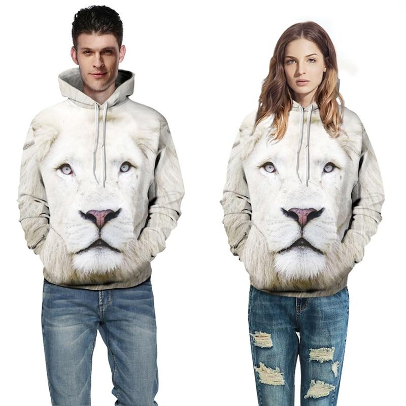 f45032746 Aorenburg mężczyźni 3D Galaxy druk cyfrowy piękny biały lion śmieszne bluzy  męskie/kobiety/chłopców i Harajuku bluzy plus rozmiar 5XL