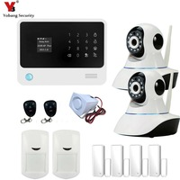 2 4G Wifi Burglar Alarm System Security Home Voice Prompt Free App Control Touch Screen Wireless