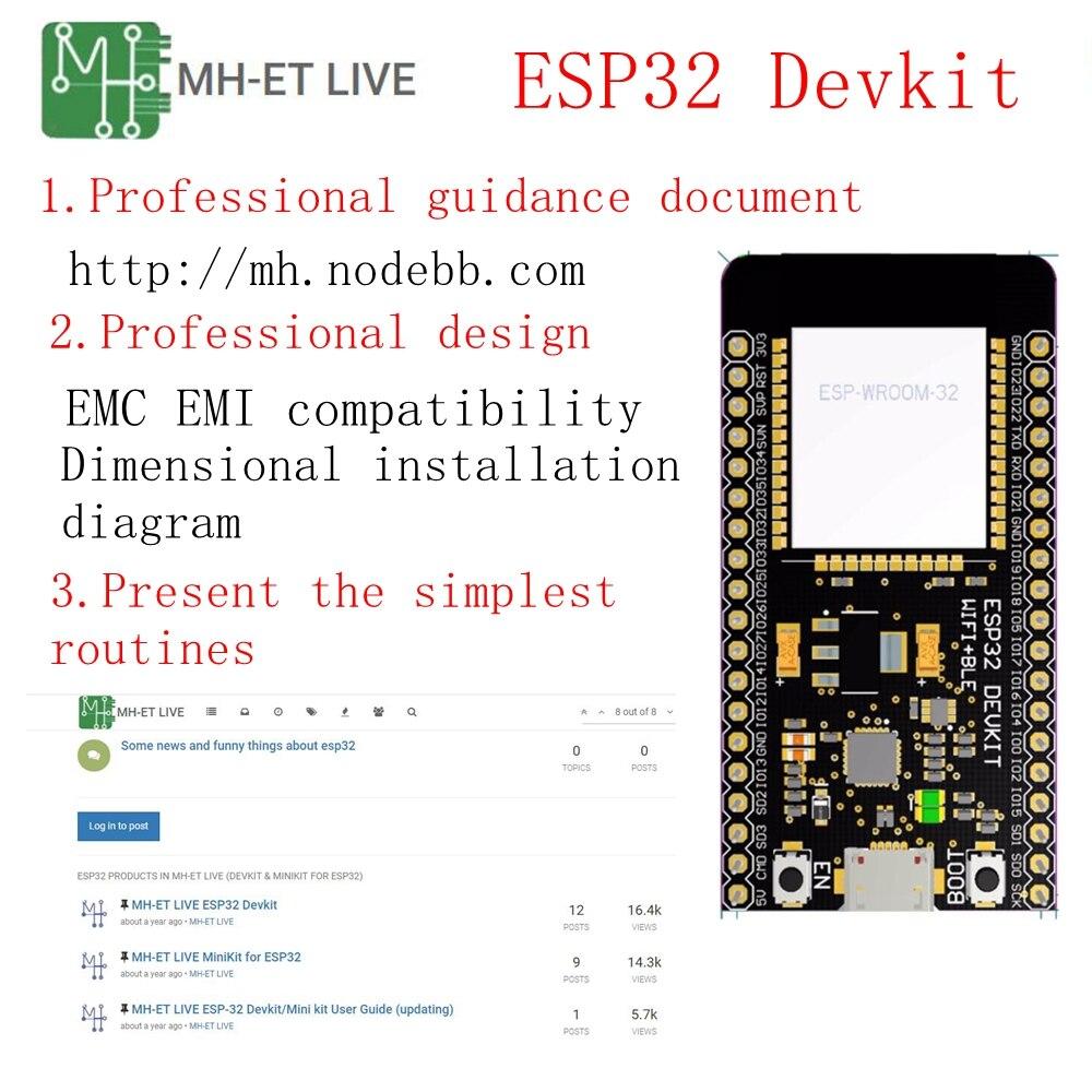 ESP32 макетная плата модуль WiFi+ Bluetooth ультра-низкое энергопотребление ESP-32 ESP-32S ESP 32 аналогичный ESP8266