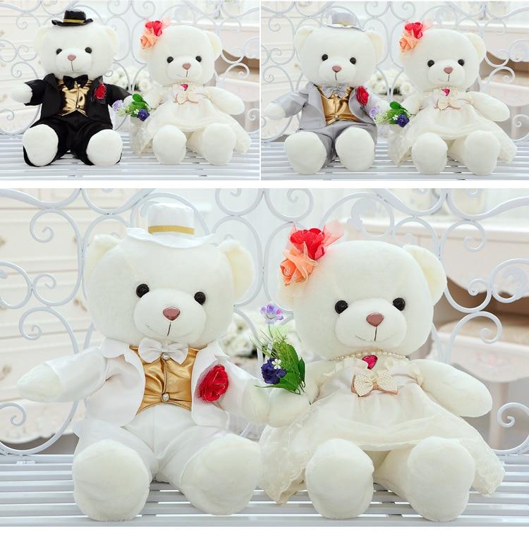 High Quality 1 Couple Bear Wedding Teddy Bear, Stuffed Animals & Plush Toys Bear For Girl Gift Wedding Gift | Stuffed & Plush Animals