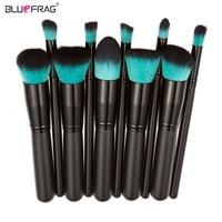 BLUEFRAG Pro Makeup Brush Set Powder Foundation Brush Eyebrow Eyeshadow Cosmetic Make Up Tools Toiletry Kit for Women 10Pcs/set