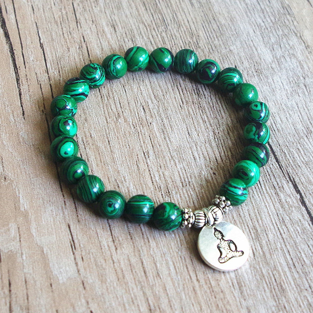 Malachite Mala Bracelet