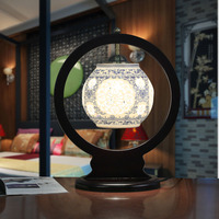 Classic lamps jingdezhen ceramic chinese style blue and white wedding decoration table lamp