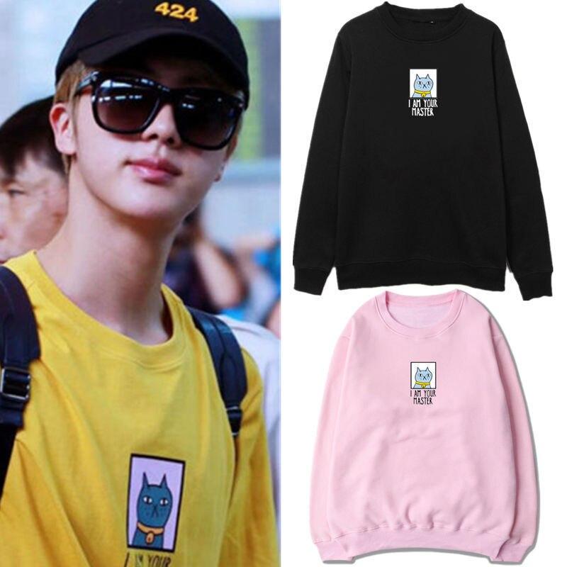 Mainlead Kpop BTS JIN Sweatershirt Unisex Bangtan Boys Cartoon Sweatershirt Hoodie ...