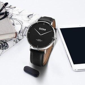 Image 4 - DOM 2018 Fashion Horloges Voor Mannen Uur Heren Horloges Topmerk Luxe Quartz Horloge Man Lederen Sport Polshorloge Klok relogio