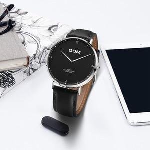Image 4 - DOM 2018 Fashion Watches For Men Hour Mens Watches Top Brand Luxury Quartz Watch Man Leather Sport Wrist Watch Clock relogio