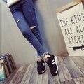 Горячие Продажа Новые 2016 Мода невидимый высоком каблуке Женщины Тренеры Дышащий Спорт Женской Обуви CasualZapatillas Mujer