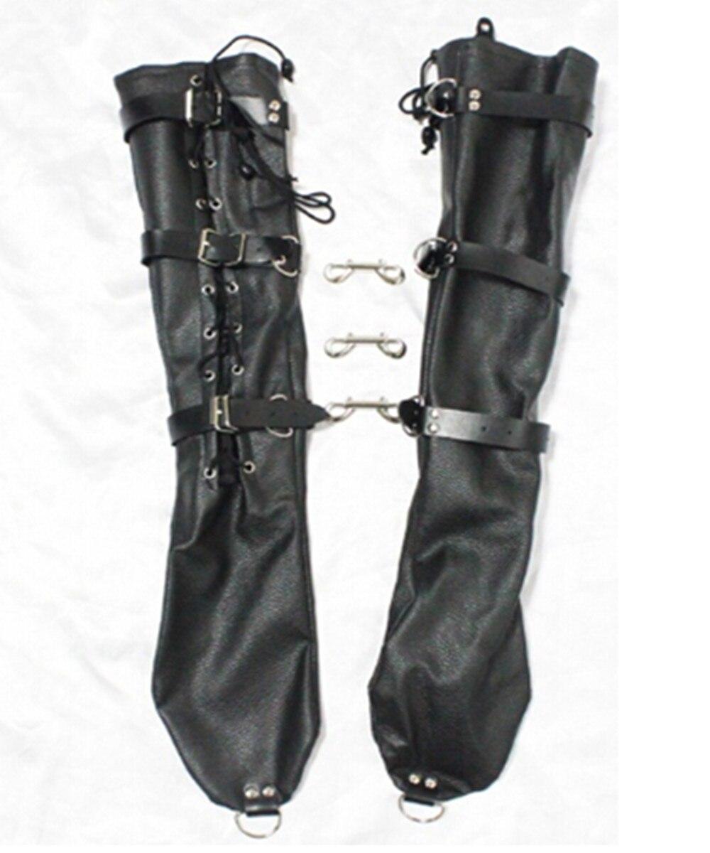 ФОТО Bdsm Long PVC Leather Hand Arm Cuffs Bondage Slave Restraints Belt In Adult Games,Fetish Sex Flirting Toys For Women
