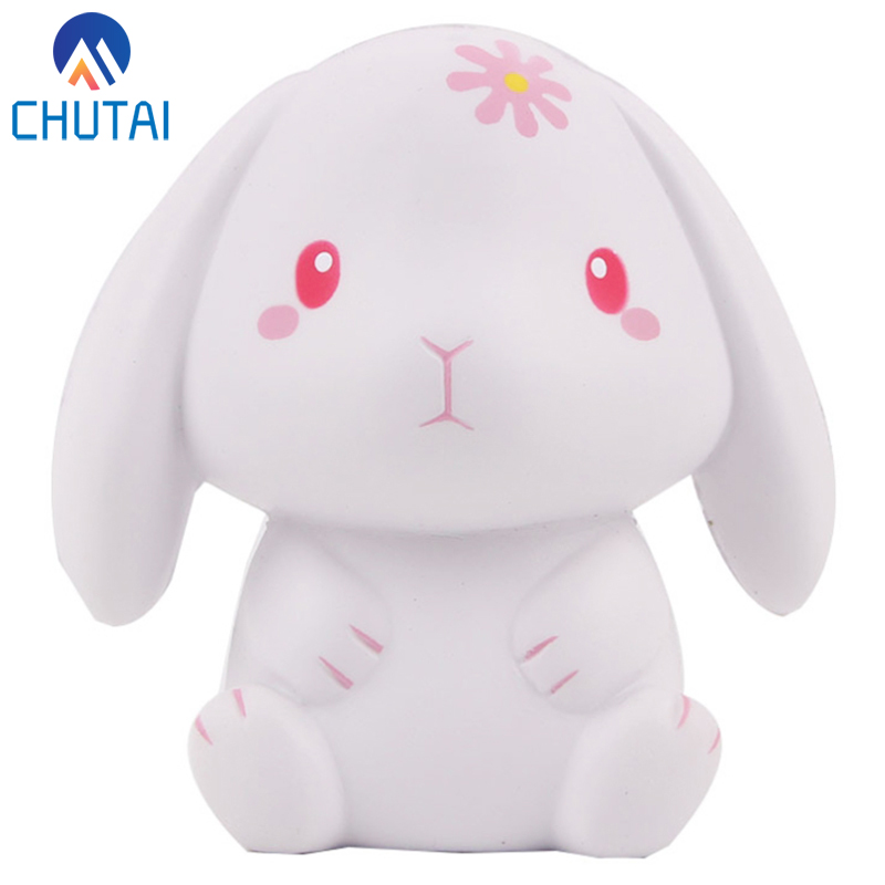 Kawaii Jumbo Rabbit Squishy Simulation Cream Scented Slow Rising Squishies Creative Soft Stress Relief Squeeze Toys 11x10 CM