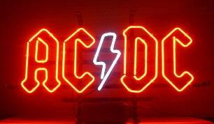 AC DC Glass Neon Light Sign