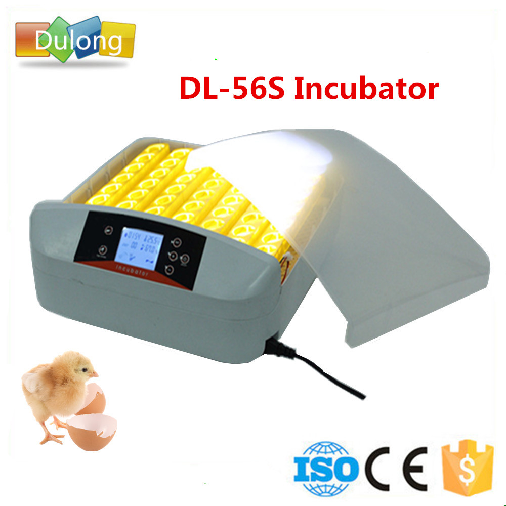 56 eggs fully automatic household mini egg incubator with LED chicken egg incubator hatching machine de warehouse cheap chicken egg incubator 48 eggs automatic equipment hatching machines