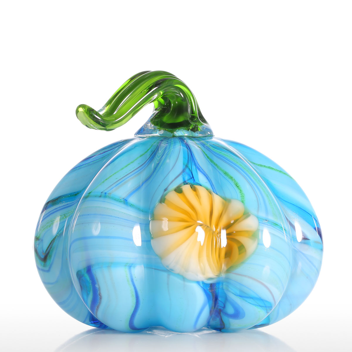Tooarts Colorful Pumpkin Gift Glass Ornament Handblown
