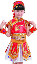 Chinese folk dance childrens costume drums small opera performance clothing National clothes