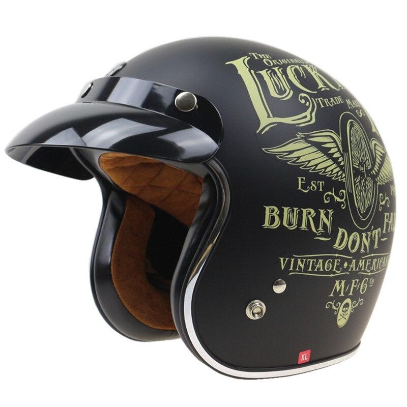 TORC harley stile moto rbike casco lucky 13 retro moto rcycle casco DOT SG standard aperto del fronte moto casco