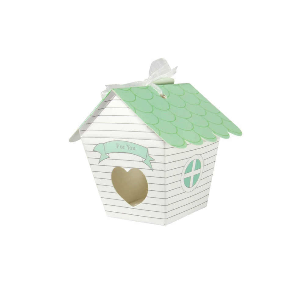 "... 50pcs/lot ""Love Nest"" Green Bird House Wedding Favour Box Candy Gift Packing ..."