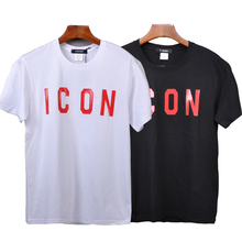DSQICOND2 DSQ Brand New Casual Tees ICON Printed Tops male Female Summer Casual Cotton Short Sleeve T-shirts Loose Couple Tops zogaa tie dyed midriff baring women t shirts loose fit casual tops brand cloth summer new shorts sleeve casual female t shirts