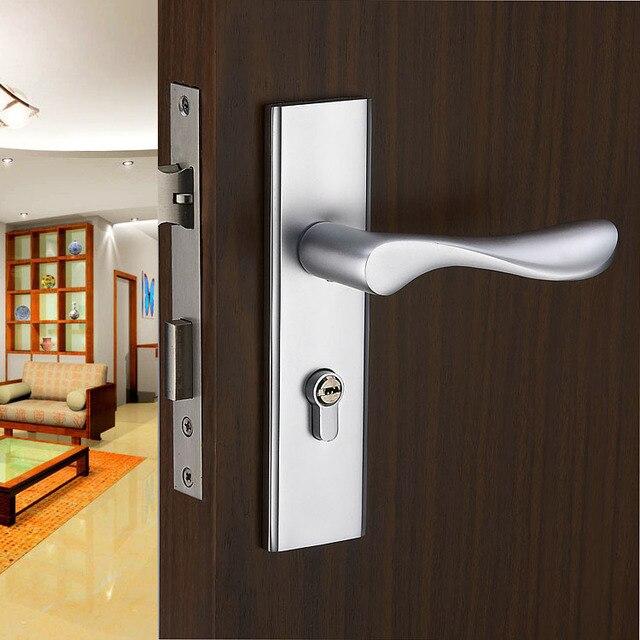 Wave Lever Keyed Entry Door Lock Door Knob Passage Door Hardware