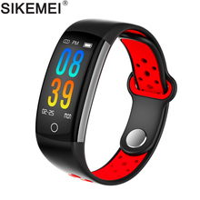 SIKEMEI Waterproof Sport Fitness Smart Bracelet Wrist Band Wristband Heart Rate Blood Pressure Oxygen for iPhone Android