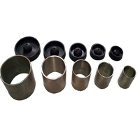NEW 5PC SET DENTAL STAINLESS Steel ROUND CASTING FLASKS RINGS INVESTMENT FORMERS W BASE