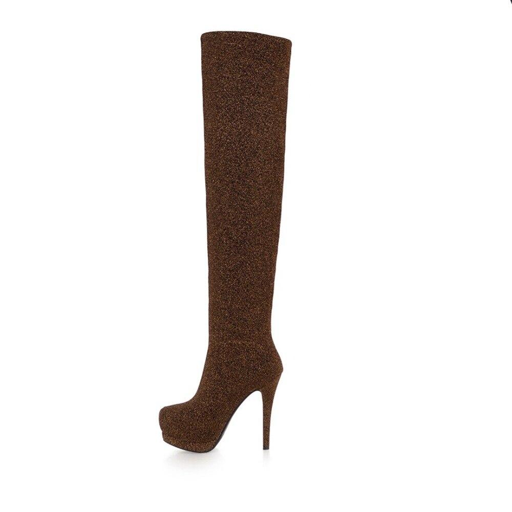 gu Bottes Extensible Tong argent vin forme gris Les Tissu Chaussures Cdpundari Plate D'hiver Femme Au Rouge Noir Cuisse Haute Sur Genou Femmes PTZuOkiX