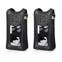 2pcs Leather Protective Case Specialized For Ailunce HD1 Dual Band DMR Digital Walkie Talkie
