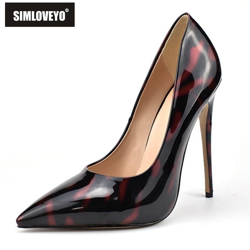SIMLOVEYO Lurxury パンプス女性スーパーハイヒールプラスサイズ OL オフィスの女性の靴フェイクスエードスティレットかかとドレス靴  グループ上の 靴 からの レディースパンプス の中 1