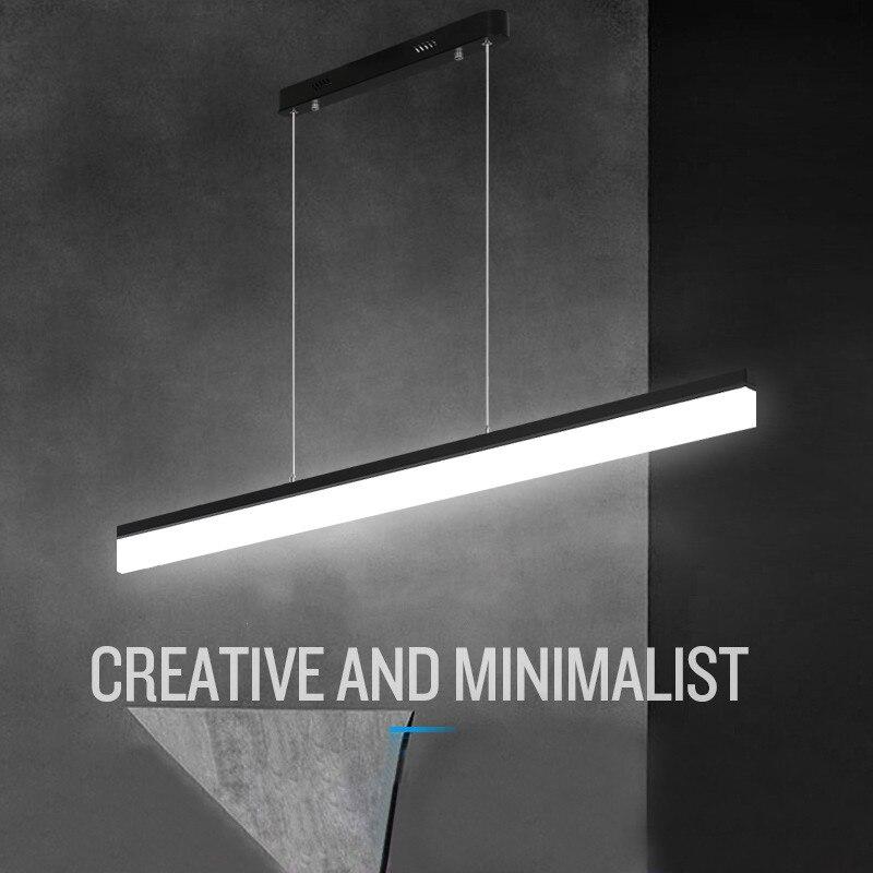 Us 1250 Nowoczesne Biuro Oświetlenie Wisiorek światła Restauracja Osobowości Balkon Prostokątny Studio Minimalistyczne Lampy Led Lampy Wiszące