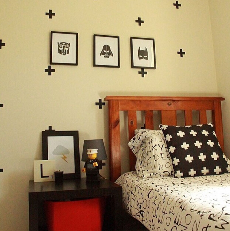 Colorful Black Cross Wall Decor Mold - All About Wallart ...