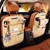 حقيبة تخزين ظهر لمقعد السيارة من جلد البولي يوريثان منظم المقعد الخلفي للسيارة العالمي حقائب تعليق لمقعد سلامة الطفل صندوق تخزين متعدد الوظائف