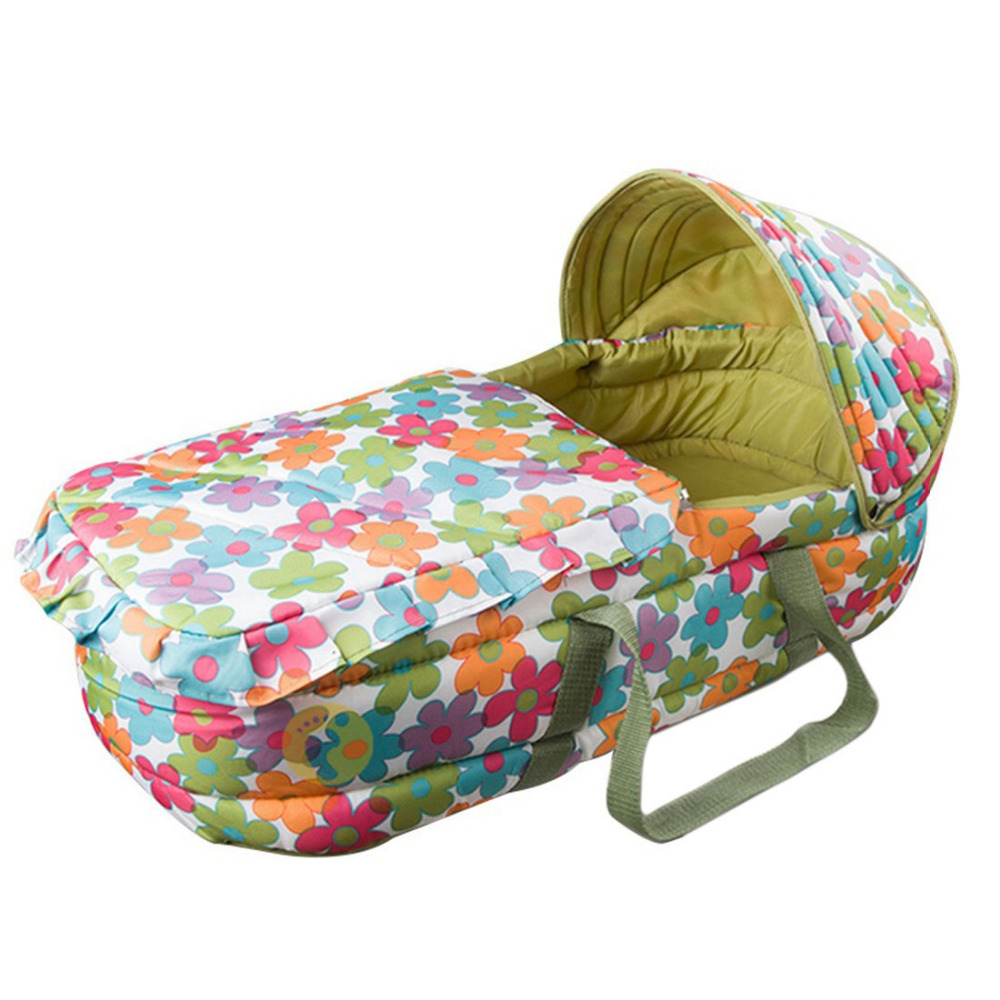 Portable Baby Carrycot 0-7 month Infant Bed Easy Carry Newborn Travel Bassinet Baby Sleeping Basket Folding Cot Bed Cradle quality baby sleeping basket portable newborn cradle bed with awning mosquito net portable bassinet for newborn car seat cradle