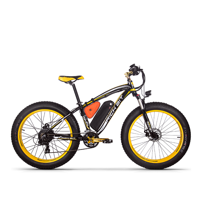 RichBit RT-012 Plus Fat Tire ebike 21 speeds 48V 1000W 17Ah Lithium Battery powerful Electric Bicycle With Computer Speedometer richbit ebike new 21 speeds electric fat tire bike 48v 1000w lithium battery electric snow bike 17ah powerful electric bicycle