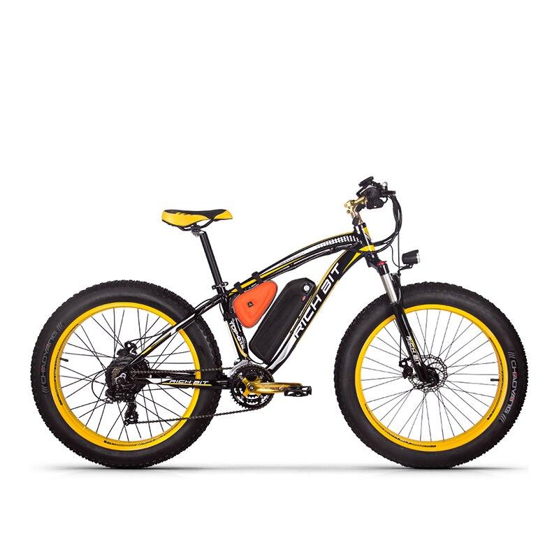 RichBit RT-012 Plus Fat Tire ebike 21 vitesses 48 V 1000 W 17Ah Batterie Au Lithium puissant Vélo Électrique Avec Ordinateur compteur de vitesse