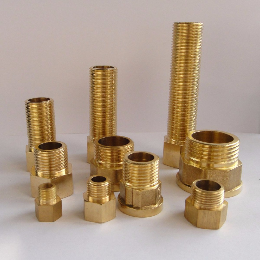 Brass reducer connector hex head quot bsp male to