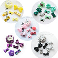 1 Set Princess Crown Hairpins Set for Girls Multicolor Infant Baby Hair Accessories 7 pcs/Set
