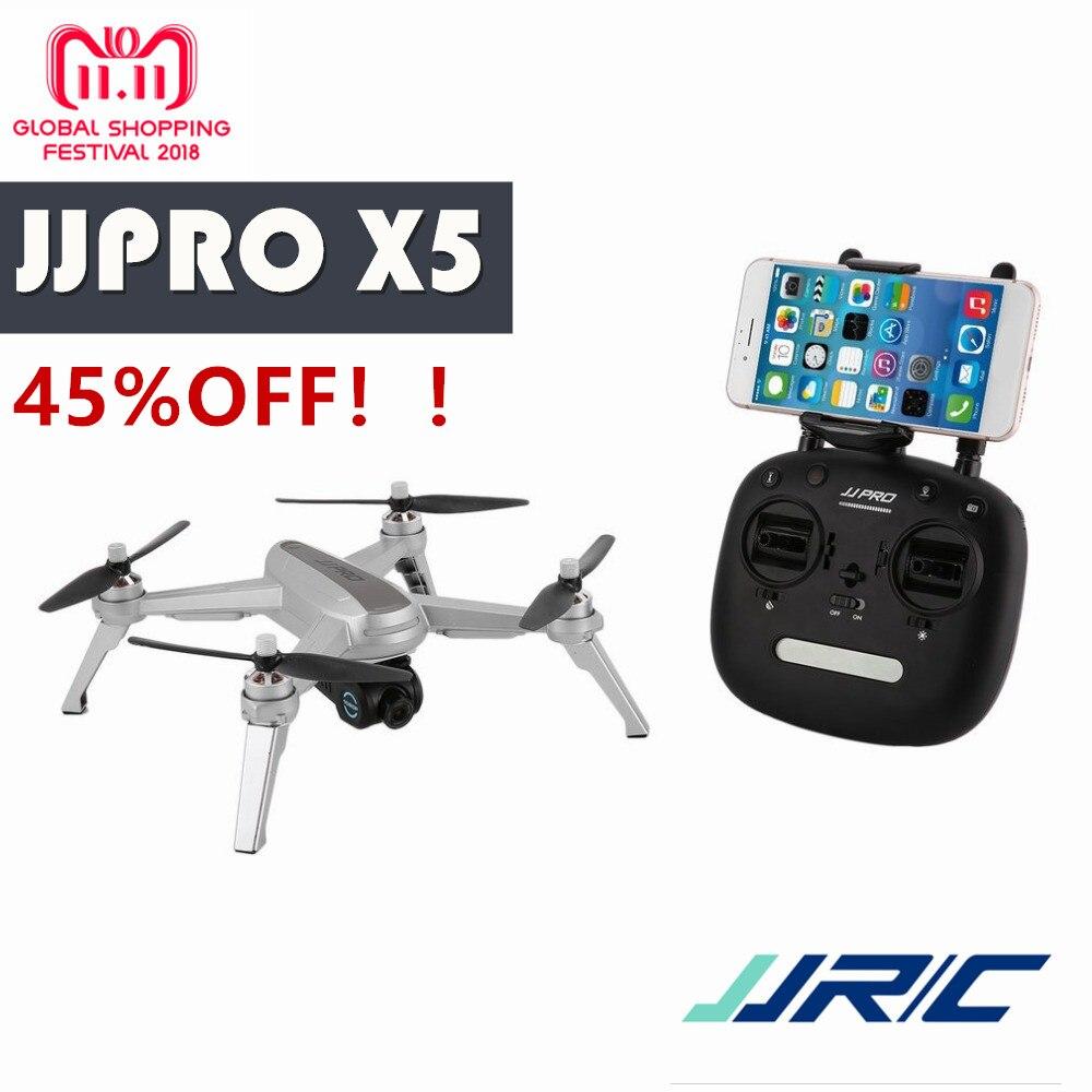 GRAND SLAE! JJPRO X5 2.4g GPS Positionnement 1080 p HD 5 3GWIFI Réglable Caméra FPV Drone Brushless RC Drone Quadcopter Un clé Retour