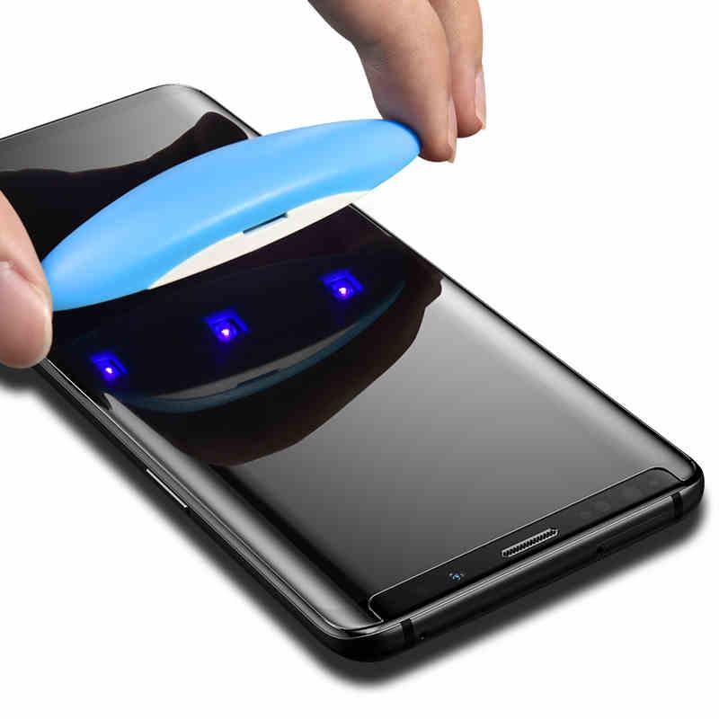 Image 5 - Полное покрытие изогнутое Жидкий Клей закаленное стекло для Samsung Galaxy S10 S9 S8 Plus S7 Edge Note 8 9 10 Защитная пленка для экрана-in Защитные стёкла и плёнки from Мобильные телефоны и телекоммуникации