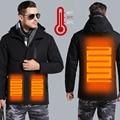 USB Intelligente Lade Heizung Jacke Winter Thermische Kleidung Carbon faser Heizung Warme Thermostat Kleidung (Power bank nicht includ)