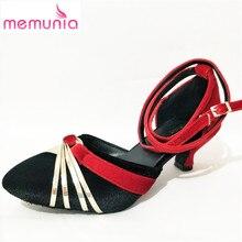 Memunia/2017 г. новое поступление женские сандалии на высоком каблуке Fashion Летняя обувь с пряжкой Смешанные Цвета Ladies Партии Shoes