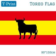 Spain Bullfight Flag 90x150cm Decoration 3x5ft Spanish Bullfighting Flag For Tourada Toreo Corrida De Toros Tauromaquia toros almadén