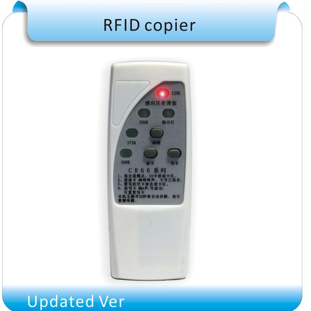4 kinds frequency RFID Copier/ Duplicator/ Cloner ID EM reader & writer+  10pcs rewritable keyfobs