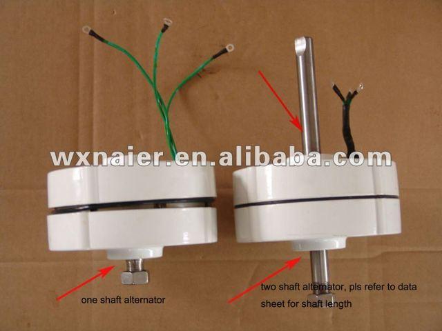a7ef1f6bea4 100 W ac 12 V 24 v bajas rpm generador de imanes permanentes alternador.  Sitúa el cursor encima para ...