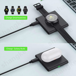 Image 5 - Wireless Charger for Samsung Galaxy Watch 42m/ 46mm S2 S3 S4 iPhone Xs X Galaxy S10 S9 S8 Mobile Phone Wireless Charger Pad 10W