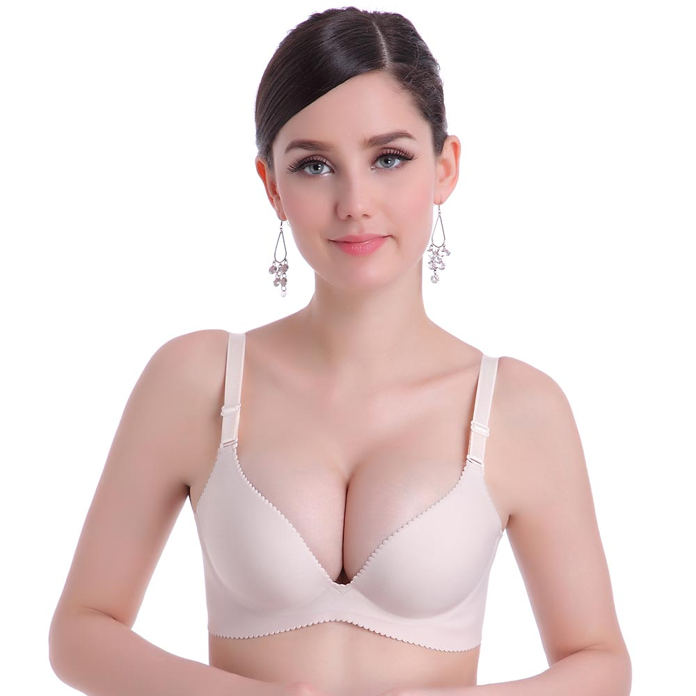 e40d34cb74 Women Push up Bra Solid Seamless Bra Wire Free Bras for Women Sexy Bralette  Female Lingerie Deep V Girls Intimates Underwear Hot-in Bras from Underwear  ...