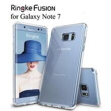 Ringke Fusion עבור Galaxy הערה 7 מקרה Tpu גמיש ברור קשיח חזרה כיסוי היברידי הערה FE מקרה עבור גלקסי הערה מאוורר מהדורה