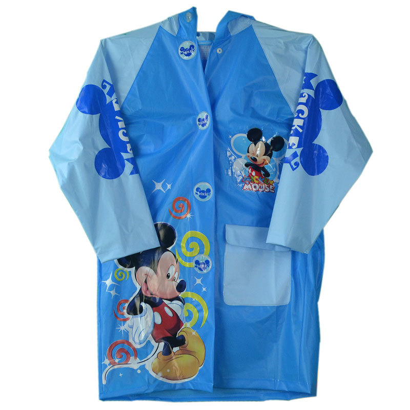 97427c3eb Disney Children Raincoat Cartoon Mickey Mouse Boys Girls Student rainwear  with Schoolbag Reserve Saving Position Inflatable hat-in Raincoats from  Home ...