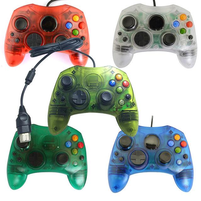 xunbeifang Transparent wired Gamepad Joystick Game Controller for Xbox